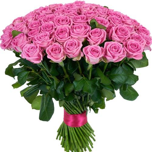 Купить на заказ Букет из 101 розовой розы с доставкой в Есиле