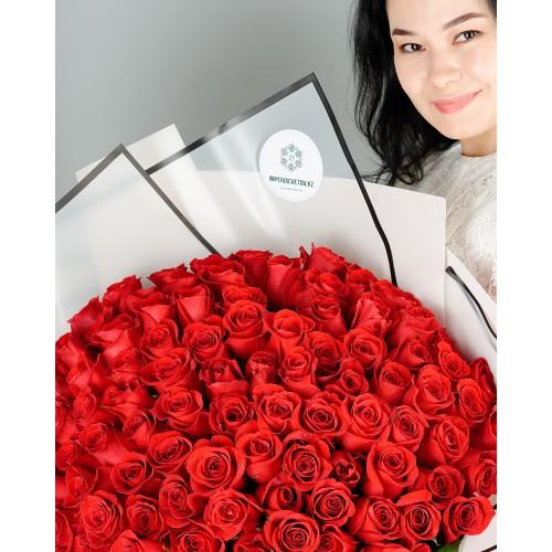 Купить на заказ Букет из 101 красной розы с доставкой в Есиле