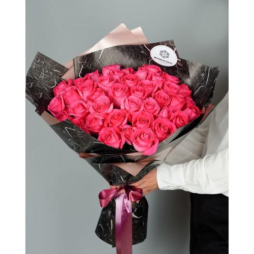 Купить на заказ Букет из 51 розовых роз с доставкой в Есиле