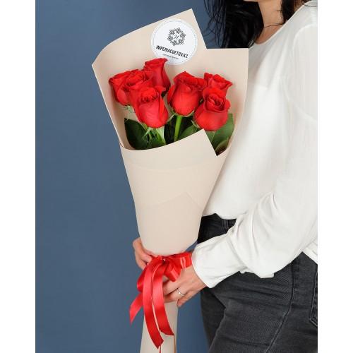 Купить на заказ Букет из 7 роз с доставкой в Есиле