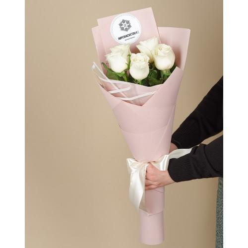 Купить на заказ Букет из 5 роз с доставкой в Есиле